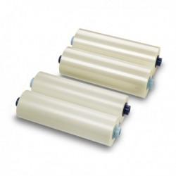 2 Bobine Film per Plastificazione 305 mm X 75 Mt. - 75Mic. Lucido GBC