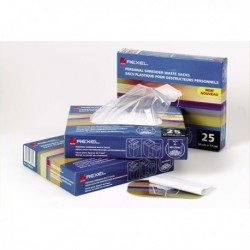 Sacchi per Distruggidocumenti REXEL - 327x517x71 mm - fino a 115 Litri (100 Pz)