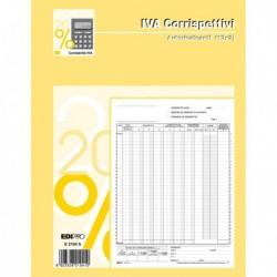 Registro PRIMA NOTA IVA CORRISPETTIVI 29.7x23 cm 13/13 Fg. Autoricalcanti E2104A