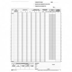 Registro PRIMA NOTA IVA CORRISPETTIVI 29.7x23 cm 25/25 Fg. Autoricalcanti E2102A