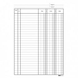 Modulo Blocco Registro DARE / AVERE / SALDO 24x17 cm da 100 Pag. E2689
