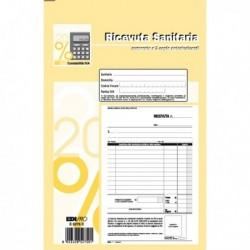 Blocco RICEVUTE SANITARIE NUMERATE 50/50 Fg. Autoricopianti 23x15 cm E5275C