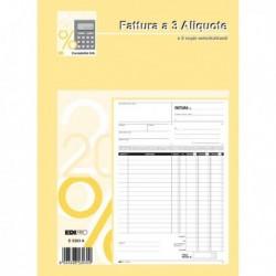 Blocco FATTURE 3 ALIQUOTE IVA 50/50 Fg. Autoricalcanti 29.7x21 cm E5303A EDIPRO