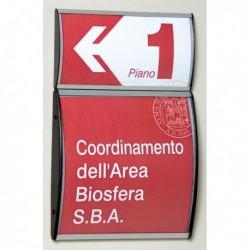 Porta Avvisi Segnaletica per parete 15x21 cm Profilo Silver Arkos 1431038