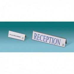 Portanome da tavolo 25x6.5 cm (10 Pz) LEBEZ 50977 in PVC completo di cartoncino