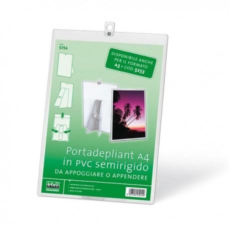 Portadepliant Porta Brochure A4 in PVC semirigido LEBEZ 5254