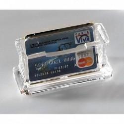 Portabiglietti da visita in Acrilico trasparente 11.5x5.5x4.5 cm LEBEZ 1680