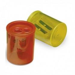 Temperamatite 2 fori con contenitore in plastica trasparente LEBEZ 413 (12 Pz)