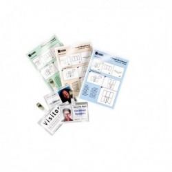 Pouches piccoli formati 125 mic Governament Card 65x95 mm GBC 3740301 (100 Pz)