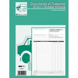 Blocco DDT CARICO / TENTATA VENDITA A4 da 50 Fg. Autoricalcabili E5220C EDIPRO