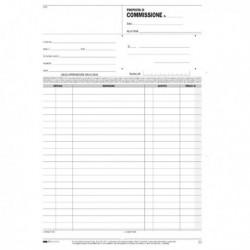 Blocco COPIA COMMISSIONI 29.7x21 cm 33 Fg. a 3 copie Autoricalcabili E5237A