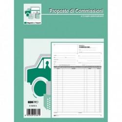 Blocco COPIA COMMISSIONI 29.7x21 cm 100 Fg. Uso Mano E5236 EDIPRO
