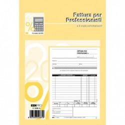 Blocco FATTURE PROFESSIONISTI 50/50 Fg. Autoricopianti 23x15 cm E5266A EDIPRO
