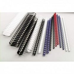 Dorsi Plastici BIANCO a 21 Anelli - 8 mm - 45 Fogli - GBC 4028194 (100 Pz)