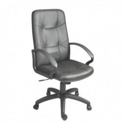 Poltrona sedia ufficio direzionale Auriga P NERO Pelle e Sky UNISIT