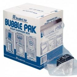 Rotolo per imballaggio con bolle d'aria pretagliato in 100 Fg. 30x50 cm.