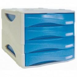 Cassettiera Smile ARDA - BLU traslucido - 4 cassetti - TR15P4PBL