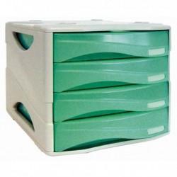 Cassettiera Smile ARDA - VERDE trasparente - 4 cassetti - TR15P4PV