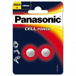 Confezione 2 micropile a pastiglia CR2016 Litio 3V PANASONIC