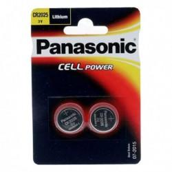Confezione 2 micropile a pastiglia CR2025 Litio 3V PANASONIC