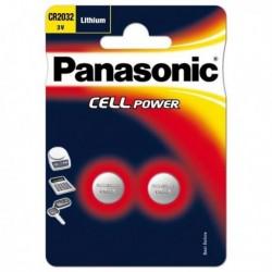 Confezione 2 micropile a pastiglia CR2032 Litio 3V PANASONIC