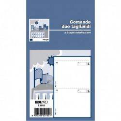 Blocco COMANDE a 2 TAGLIANDI 25/25 Fogli Autoricalcanti 17x9.9 E5910 (20 Pz)