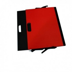 Cartella Portadisegni con Maniglia 35x50 cm ROSSO - BREFIOCART (conf. 10 Pz)