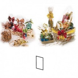 Busta Regalo (100 Pz) Trasparente CRYSTAL 10x20 cm Busta per Alimenti Neutra