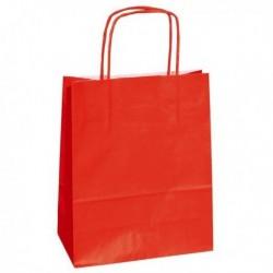 Shoppers Buste (25 Pz) Carta Kraft 22x10x29 cm. Twisted ROSSO 90 gr.
