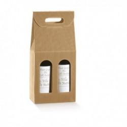 Scatola 2 bottiglie 180x90 mm. H 385 mm. Onda AVANA (5 Pz) 35903 TONO SU TONO