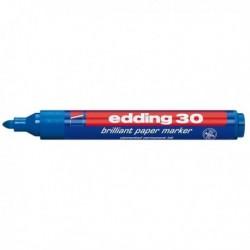 Marcatore permanente EDDING 30 PERMANENTE Punta Tonda BLU (10 Pz)
