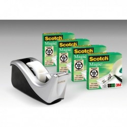 Dispenser C60 + 4 Rotoli SCOTCH Magic 810 19 mm. X 33 Mt.