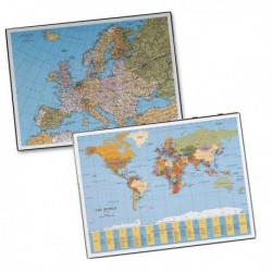 Sottomano scrivania Geographic Planisfero 40x53 cm. Laufer LEBEZ 45350