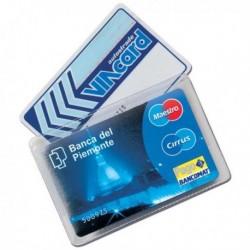 Porta Tessere / Carte / Badge (100 Pz) in PVC Cristal Card per 2 card