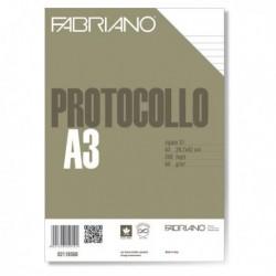 Carta Protocollo Foglio A4 1 Rigo 200 Fg. 60 gr. FABRIANO 02110560