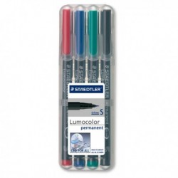 4 Pennarelli LUMOCOLOR PERMANENT 313 SF 0.4 mm. STAEDTLER 313WP4