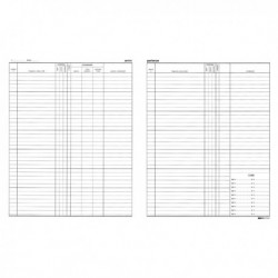 Registro ARRIVI PARTENZE 31x24.5 cm da 46 Pag. E2839 EDIPRO (2 Pz)