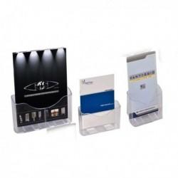 Portadepliant porta brochure da banco A4 - 1 tasca con separatore 24x27.5x10 cm.
