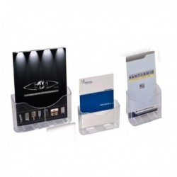 Portadepliant porta brochure da banco A5 - 1 tasca 17.5x20.5x9 cm.