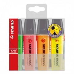 Confezione 4 Evidenziatori Stabilo Boss Original 2-5 mm colori assortiti 70/4