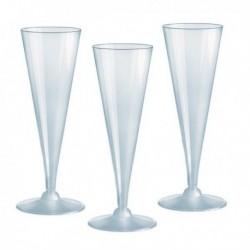 Bicchieri linea Party DOPLA - 110 cc - 02884 (20 Pz). Flutes ideali per feste