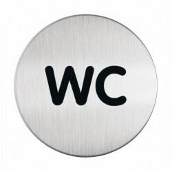 Pittogramma in acciaio DURABLE - rotondo - WC - diam. 83 mm.