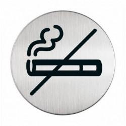 Pittogramma in acciaio DURABLE - rotondo - Zona non fumatori - diam. 83 mm.