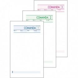 Blocco Comande 25 Fg. a 3 Copie Autocopiante 10x17. BM 511/3 (conf. 10 Pz)