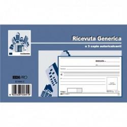 Blocco RICEVUTE GENERICHE - 33 Fg. 3 Copie Autoricalcanti 9.9x17 EDIPRO E5564CT.