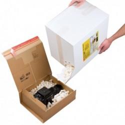 Scatola da 540 gr. (45 Lt) chips da imballaggio COLOMPAC. Scatola in cartone