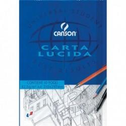 Blocco carta lucida manuale 210x297 mm. 10 Fg. 80 gr. CANSON (25 Pz)
