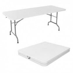Tavolo rettangolare pieghevole in PLASTICA 152x76 cm - H 74 cm CZ152F