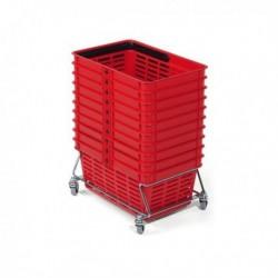 Cestello cesto basket spesa 40x30x25 cm - 19 Litri DURABLE. Cesto stabile ed