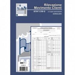BLOCCO MODELLO ISTAT C59 Giornaliero 31x21 cm. 50 Fg. 2 Copie Ricalcanti.